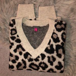 VINCE CAMUTO | Cheetah Print Sweater